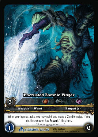 Encrusted Zombie Finger