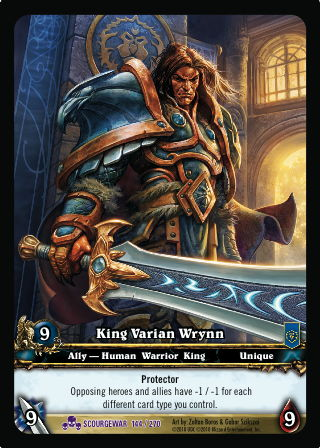 King Varian Wrynn - WoW TCG Browser & Deckbuilder
